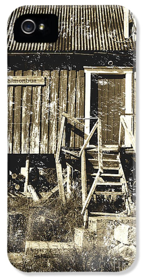 Heiko IPhone 5 Case featuring the photograph Forgotten Wooden House by Heiko Koehrer-Wagner