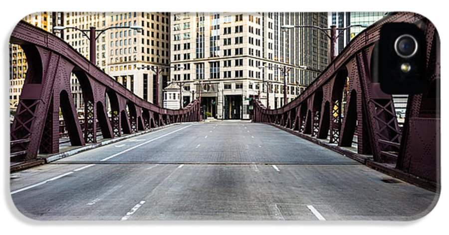America IPhone 5 Case featuring the photograph Franklin Orleans Street Bridge Chicago Loop by Paul Velgos