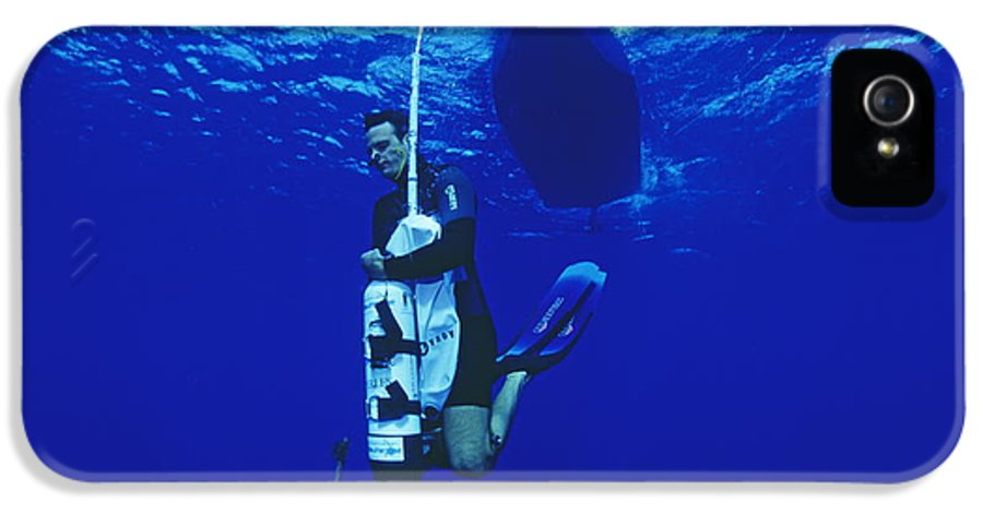 Equipment IPhone 5 Case featuring the photograph Free-diving Training by Alexis Rosenfeld