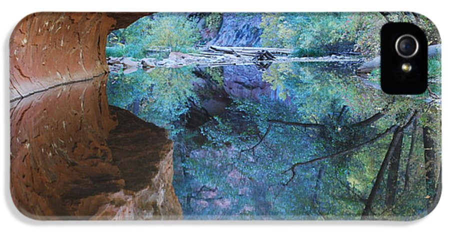 Sedona IPhone 5 Case featuring the photograph Fully Reflected by Heather Kirk