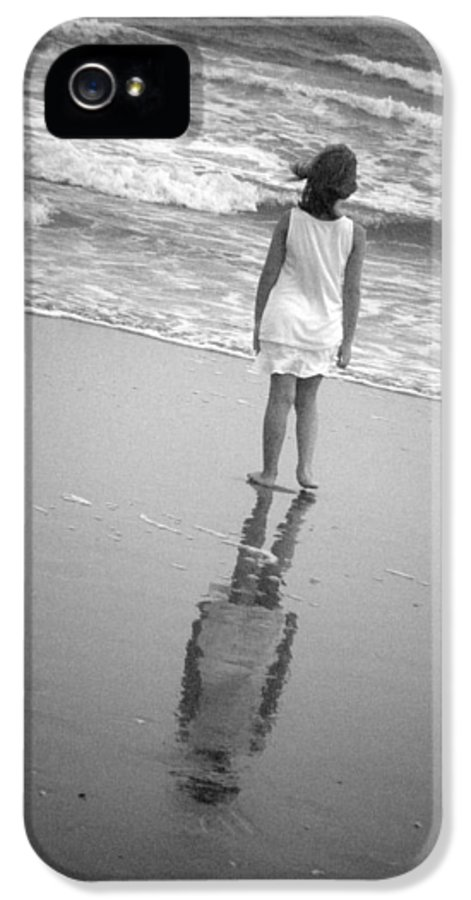 Art IPhone 5 Case featuring the photograph Girl By Ocean by Kelly Hazel