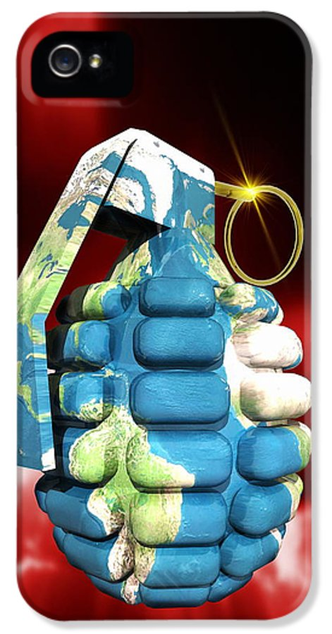 Earth IPhone 5 Case featuring the photograph Global Warfare by Victor Habbick Visions