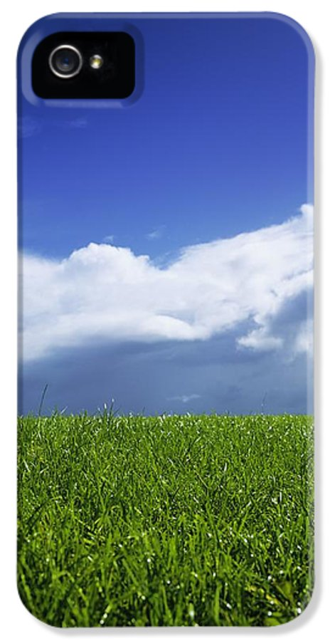 Atmospheric IPhone 5 Case featuring the photograph Grass In A Field, Ireland by The Irish Image Collection