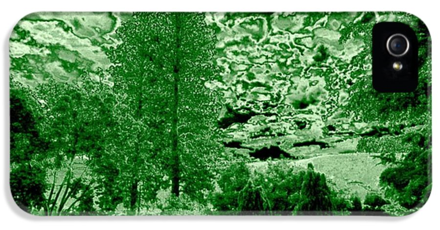 Green Zone IPhone 5 Case featuring the digital art Green Zone by Will Borden