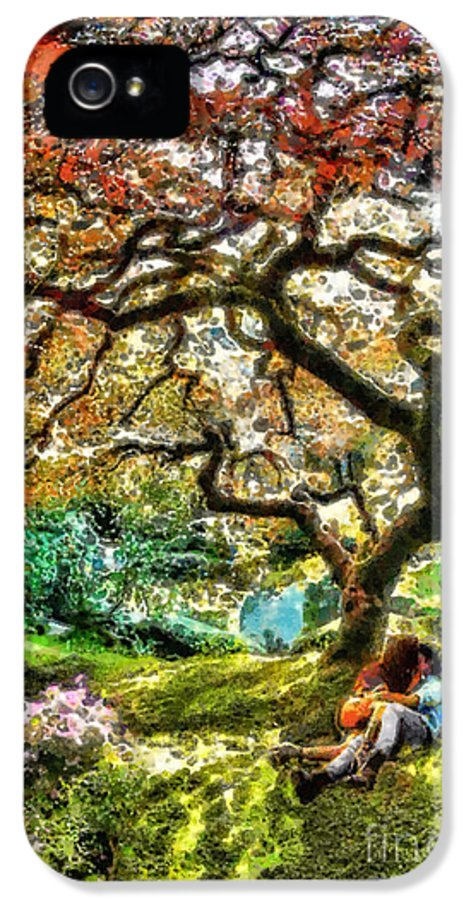 Growing IPhone 5 Case featuring the painting Growing by Mo T