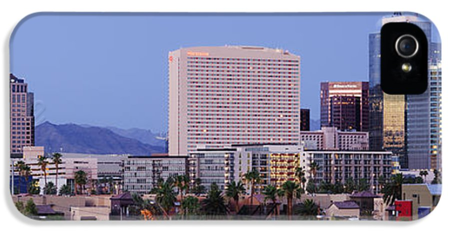 Architecture IPhone 5 Case featuring the photograph High Rise Buildings Of Downtown Phoenix At Sunrise by Jeremy Woodhouse