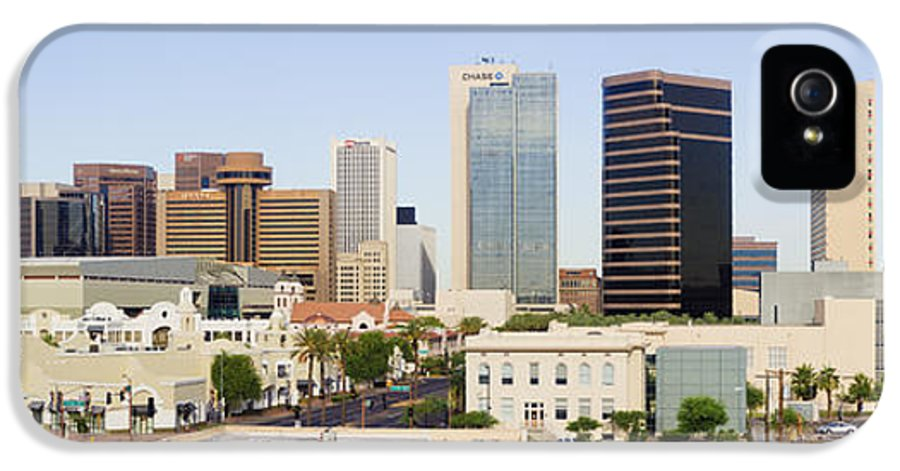 Architecture IPhone 5 Case featuring the photograph High Rise Buildings Of Downtown Phoenix by Jeremy Woodhouse