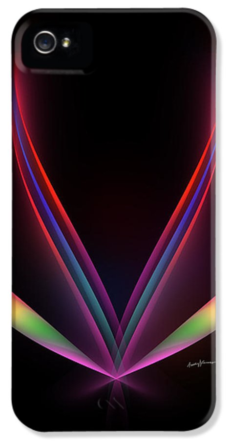 Abstract IPhone 5 Case featuring the digital art Hope by Anthony Caruso