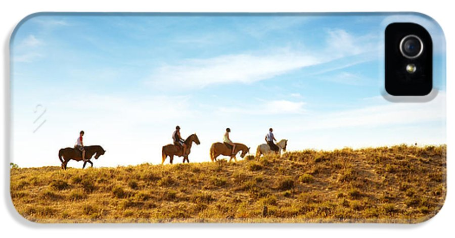 Animal IPhone 5 Case featuring the photograph Horseback Riding by Carlos Caetano