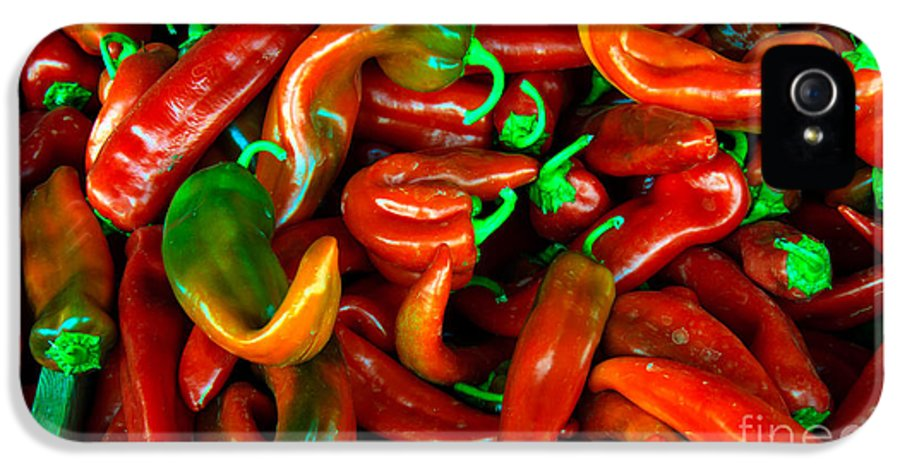 Peppers IPhone 5 Case featuring the photograph Hot Peppers by Robert Bales