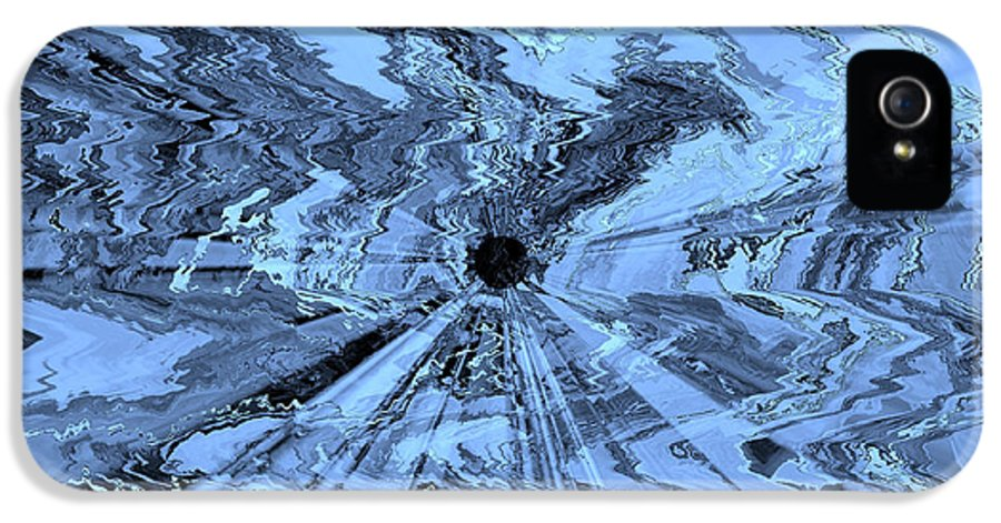 Blue Abstract IPhone 5 Case featuring the photograph Ice Blue - Abstract Art by Carol Groenen