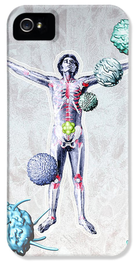 Human Body IPhone 5 Case featuring the photograph Immune System Components by Hans-ulrich Osterwalder