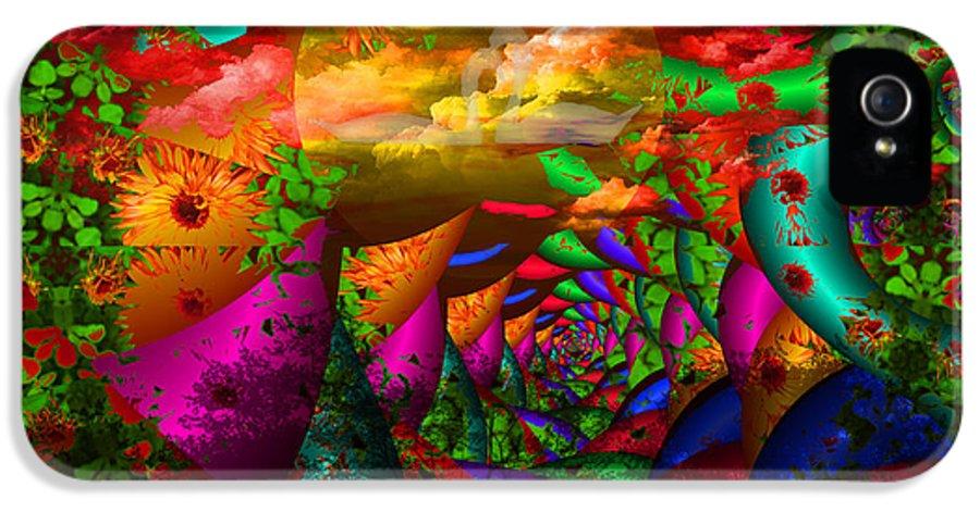 Swans IPhone 5 Case featuring the digital art In My Dreams by Robert Orinski