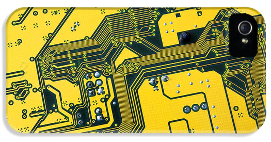 Abstract IPhone 5 Case featuring the photograph Integrated Circuit by Carlos Caetano