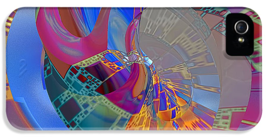 Abstract IPhone 5 Case featuring the digital art Into The Inner World by Deborah Benoit