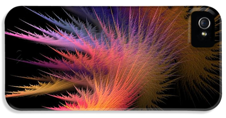 Abstract Digital Art IPhone 5 Case featuring the photograph Jagged Edge by Lourry Legarde