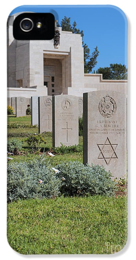 Architecture IPhone 5 Case featuring the photograph Jerusalem British War Cemetery by Noam Armonn