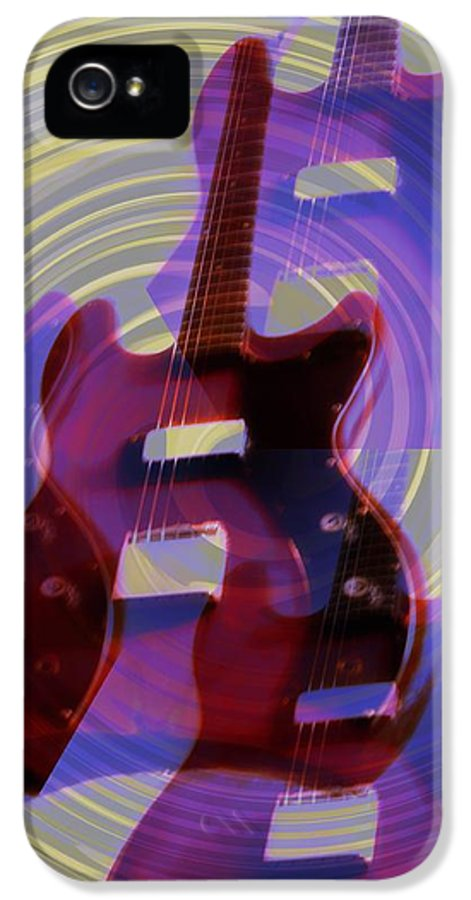 Guitar IPhone 5 Case featuring the photograph Jet Screamer - Guild Jet Star by Bill Cannon