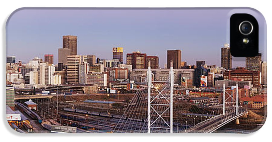 Architecture IPhone 5 Case featuring the photograph Johannesburg Skyline And Railway Station by Jeremy Woodhouse