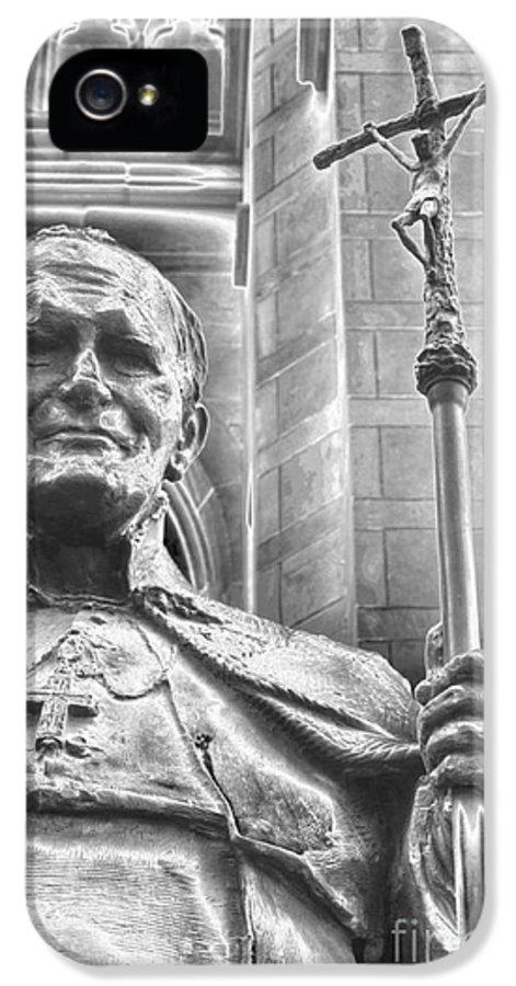 Pope John Paul Ii IPhone 5 Case featuring the photograph Karol Jozef Wojtyla by David Bearden