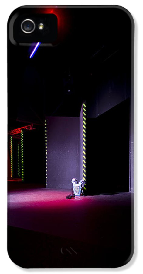 Recreational Pursuit IPhone 5 Case featuring the photograph Laser Game Playing Space With Narrow by Corepics
