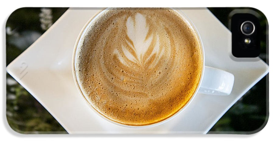 Business IPhone 5 Case featuring the photograph Latte With A Leaf Pattern by Jaak Nilson