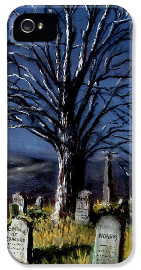 Cemetary IPhone 5 Case featuring the painting Left Alone by Jack Skinner