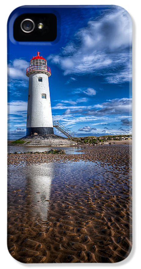 Beach IPhone 5 Case featuring the photograph Lighthouse Reflections by Adrian Evans