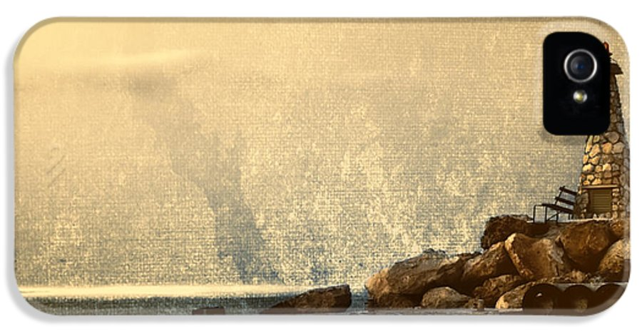 Beach IPhone 5 Case featuring the photograph Lighthouse by Stelios Kleanthous