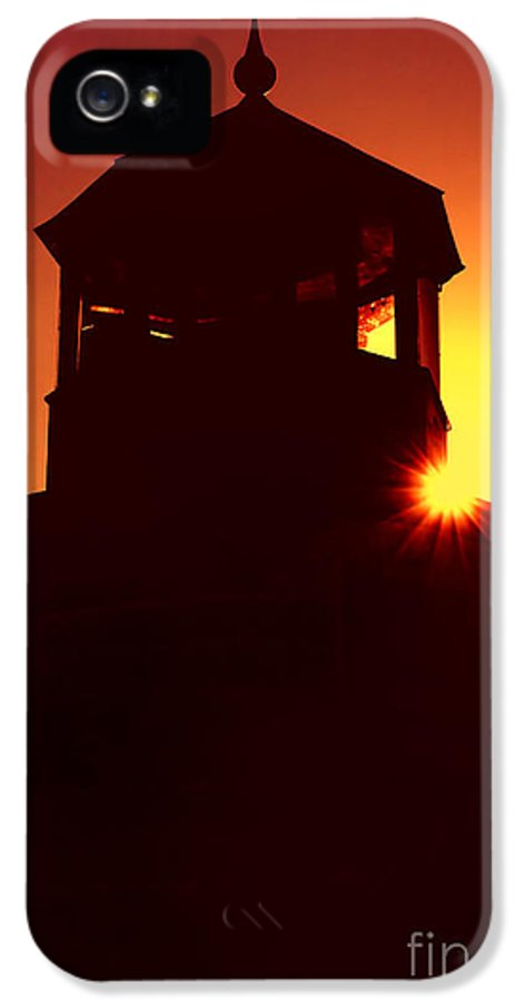 Lighthouse IPhone 5 Case featuring the photograph Lighthouse Sunset by Joann Vitali