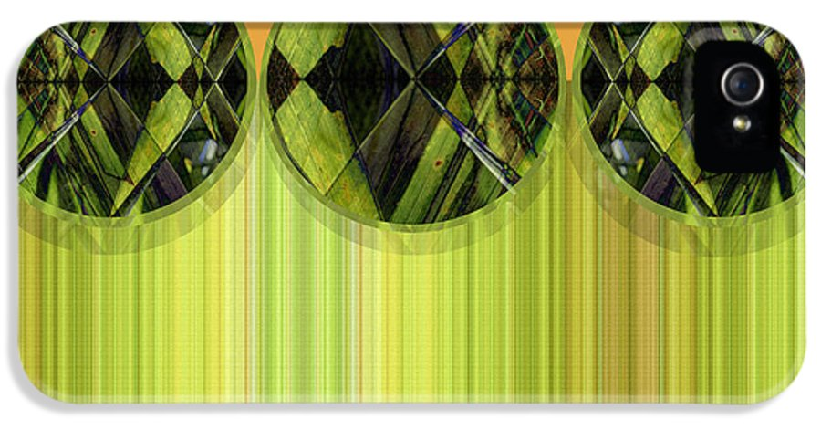 Abstract IPhone 5 Case featuring the digital art Lime Delight by Ann Powell