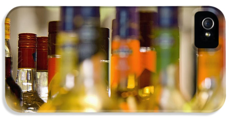 Alcohol IPhone 5 / 5s Case featuring the photograph Liquor Bottles by Shannon Fagan