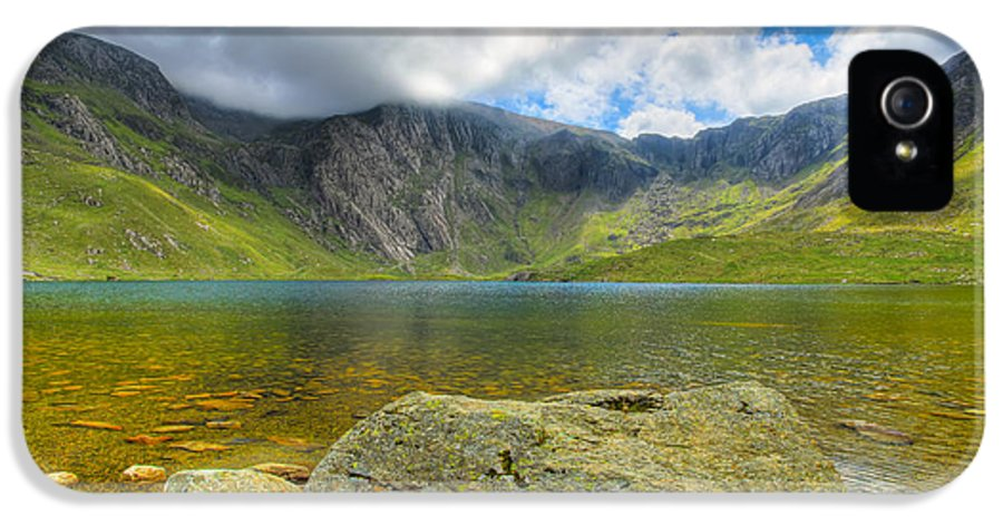 Plants IPhone 5 Case featuring the photograph Llyn Idwal by Adrian Evans