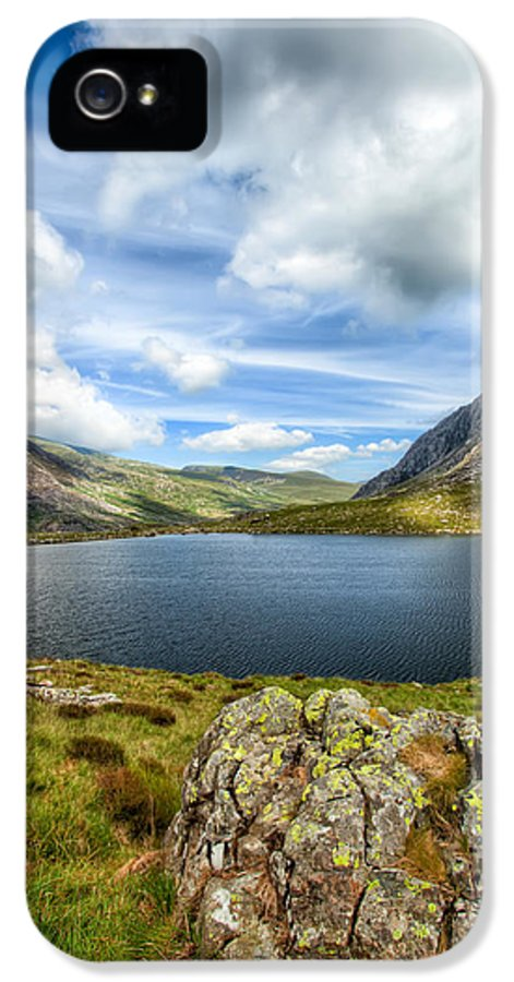 Plants IPhone 5 Case featuring the photograph Llyn Idwal Lake by Adrian Evans