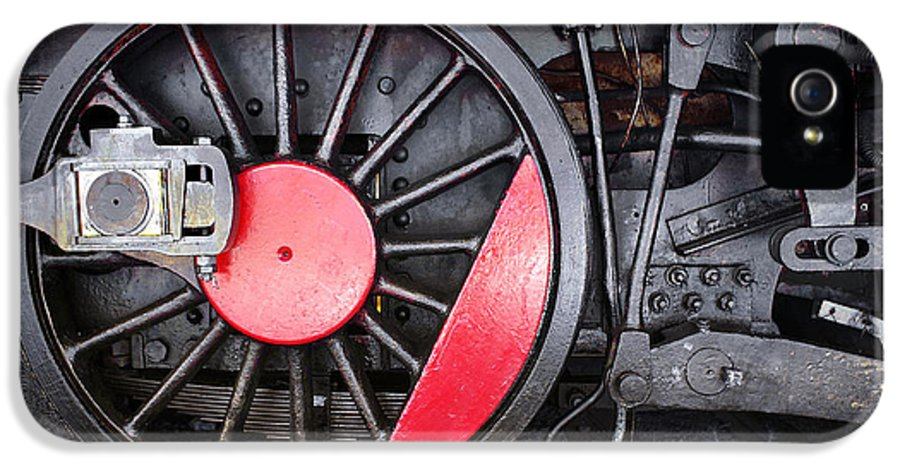 Antique IPhone 5 Case featuring the photograph Locomotive Wheel by Carlos Caetano