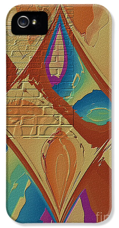 Abstract IPhone 5 Case featuring the photograph Look Behind The Brick Wall by Deborah Benoit