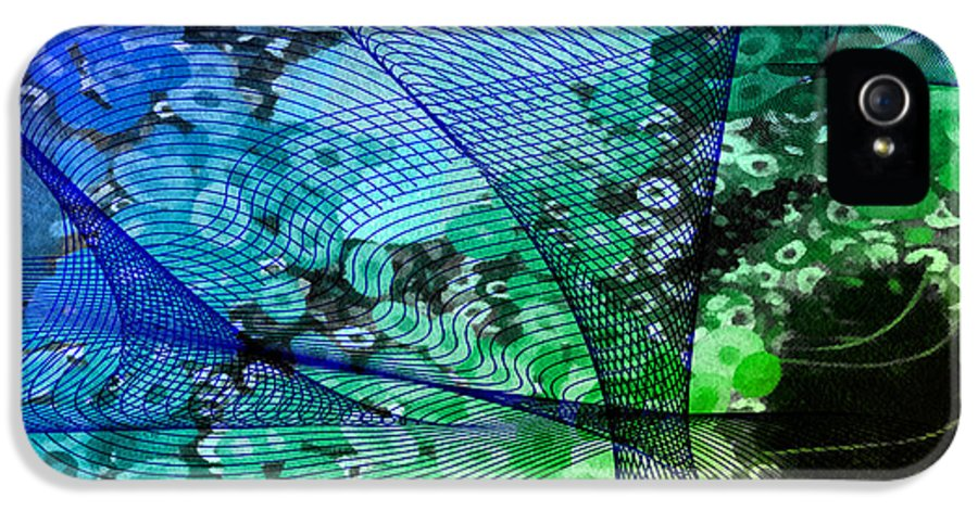 Abstract IPhone 5 Case featuring the mixed media Magnification 2 by Angelina Vick