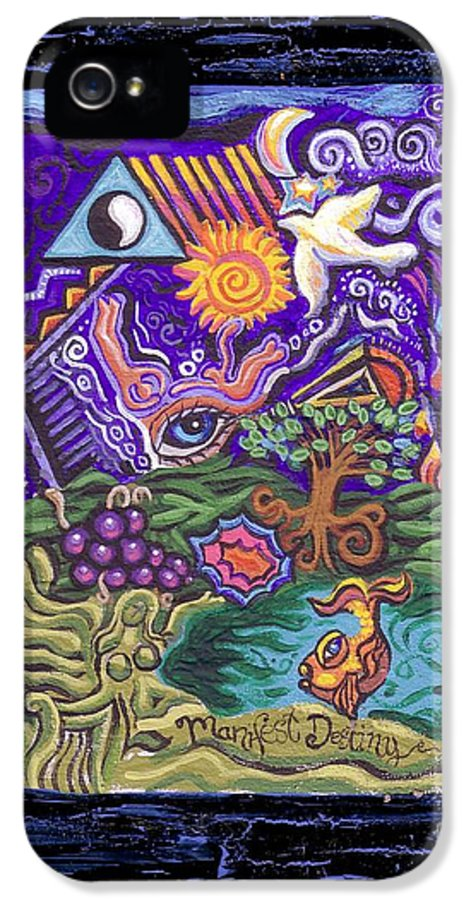 Manifest Destiny IPhone 5 Case featuring the painting Manifest Destiny by Genevieve Esson