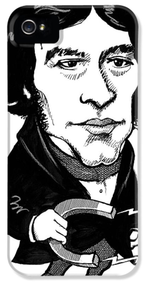 Michael Faraday IPhone 5 Case featuring the photograph Michael Faraday, Caricature by Gary Brown