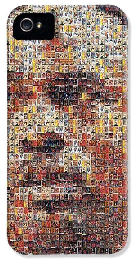 Michael Jordan IPhone 5 Case featuring the photograph Michael Jordan Card Mosaic 3 by Paul Van Scott
