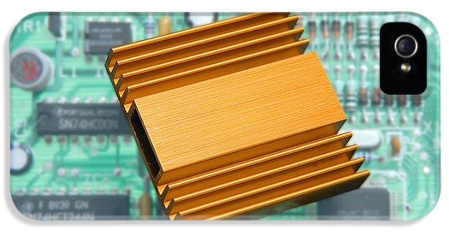 Heat Sink IPhone 5 Case featuring the photograph Microchip Processor Heat Sink by Sheila Terry