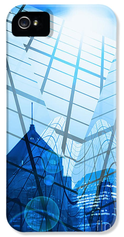 Architecture IPhone 5 Case featuring the photograph Modern City by Setsiri Silapasuwanchai