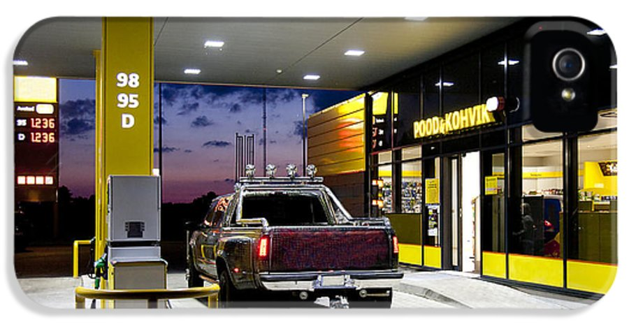 Business IPhone 5 Case featuring the photograph Modern Gas Station by Jaak Nilson