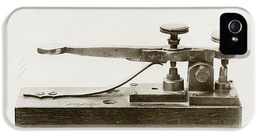 Telegraph IPhone 5 Case featuring the photograph Morse Telegraph Key by Miriam And Ira D. Wallach Division Of Art, Prints And Photographsnew York Public Library