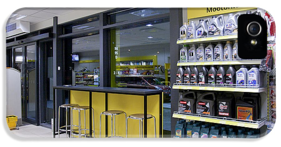 Business IPhone 5 Case featuring the photograph Motor Oil At A Convenience Store by Jaak Nilson