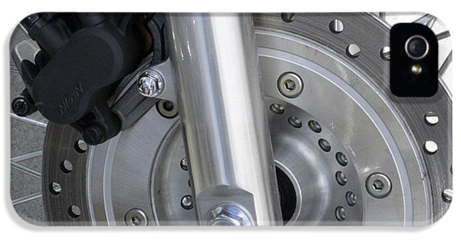 Disc Brake IPhone 5 Case featuring the photograph Motorcycle Disc Brake by Tony Craddock