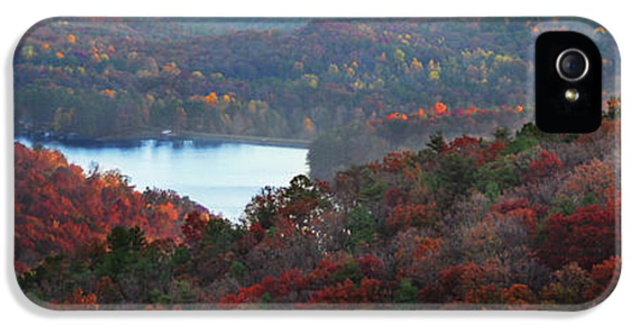 Panoramic IPhone 5 Case featuring the photograph Mountain Lake by Michael Waters