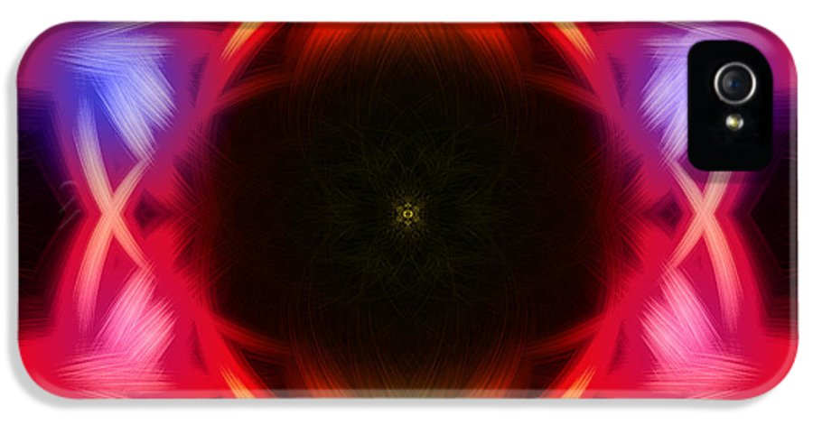 Abstract IPhone 5 Case featuring the digital art Neon Design by Anthony Caruso