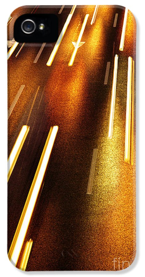 Asphalt IPhone 5 Case featuring the photograph Night Traffic by Carlos Caetano