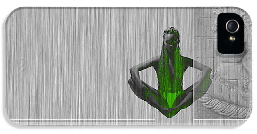 Meditation IPhone 5 Case featuring the digital art Nirvana by Naxart Studio